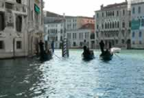 Venice, the Grand Canal and gondolas